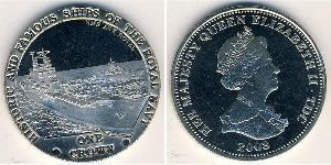 1 Krone United Kingdom (1922-) Copper/Nickel Elizabeth II (1926-)