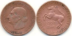 10000 Mark Germania Rame