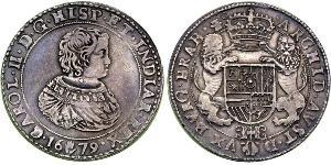 2 Ducaton Dutch Republic (1581 - 1795) Silver Charles II (1630-1685)