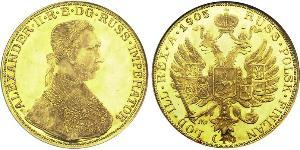 4 Ducat Empire russe (1720-1917) Or Alexandre II (1818-1881)