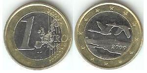 1 Euro Finland (1917 - ) Bimetal