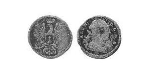 1 Kreuzer Principato di Ansbach (1398–1792) Biglione Argento Cristiano Federico di Brandeburgo-Ansbach(1736 – 1806)