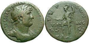 1 Сестерций бронза император Адриан (76 – 138)