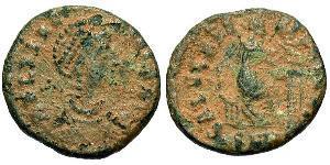 1 Follis /  AE2 Imperio romano (27BC-395) Bronce Elia Flacila (?-385)