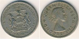 1/2 Crown Rhodésie (1965 - 1979) Cuivre