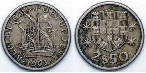 2.5 Escudo Second Portuguese Republic (1933 - 1974)