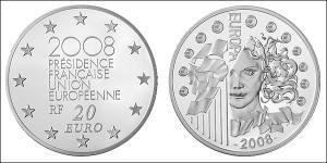 20 Euro French Fifth Republic (1958 - ) Silver