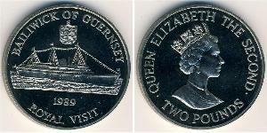 2 Pound Guernsey Copper/Nickel