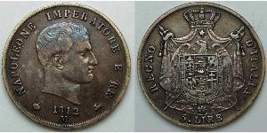 5 Lira First French Empire (1804-1814)  Napoleon Bonaparte  (1769 - 1821)