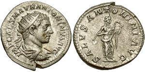 1 Antoniniano Impero romano (27BC-395) Argento Eliogabalo (203-222)