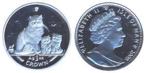1 Crown Isle of Man Silver