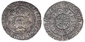 1/2 Groat Kingdom of England (927-1649,1660-1707) Silver Henry VI (1421-1471)