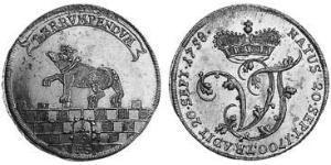 1/3 Thaler Anhalt-Bernburg (1603 - 1863) Argento Vittorio Federico di Anhalt-Bernburg(1700 – 1765)