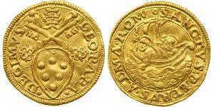 1 Ducat Estados Pontificios (752-1870) Oro León X (1475 -1521)
