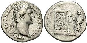 1 Denario Impero romano (27BC-395) Argento Domiziano (51-96)