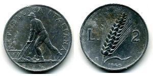 2 Lira Italia Alluminio