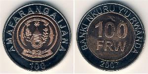 100 Franc Rwanda Bimetal