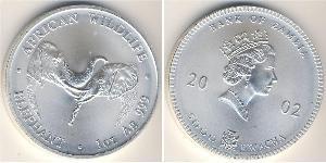 5000 Kwacha Zambia (1964 - ) Silver Elizabeth II (1926-)