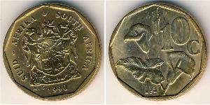 10 Cent Sudafrica Ottone
