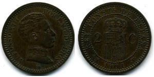 2 Centimo Kingdom of Spain (1874 - 1931)