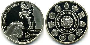 1000 Escudo Portogallo (1975 - ) Argento