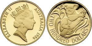 200 Dollar Australia (1939 - ) Gold Elizabeth II (1926-)