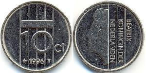 10 Stiver Regno dei Paesi Bassi (1815 - )