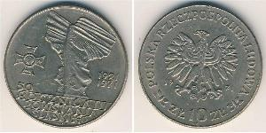 10 Zloty République populaire de Pologne (1952-1990) Cuivre/Nickel