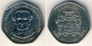 1 Dólar Jamaica (1962 - ) Níquel/Cobre