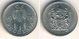 2 1/2 Cent Southern Rhodesia (1923-1980) Rame-Nichel