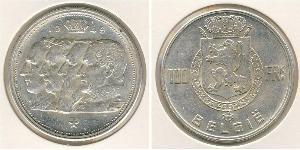 100 Franc Belgium Silver