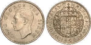 1/2 Крона(английская) Новая Зеландия Медь/Никель Георг VI (1895-1952)