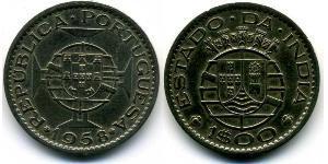 1 Escudo Portuguese India (1510-1961) Copper-Zinc
