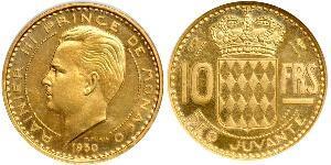 10 Franc Mónaco Oro