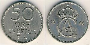 50 Ore Sweden Copper-Nickel