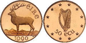 50 Ecu Irlanda (1922 - ) Oro