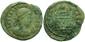 1 Follis /  AE3 Impero romano (27BC-395) Bronzo Costanzo II (317 - 361)