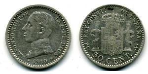 50 Centimo Kingdom of Spain (1874 - 1931)