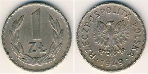 1 Zloty Polonia Níquel/Cobre