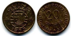 20 Centavo Guinea Portoghese (1474-1974) Bronze