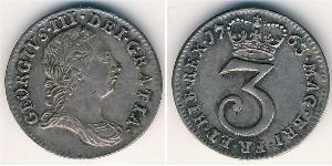 3 Penny United Kingdom (1707 - ) Silver