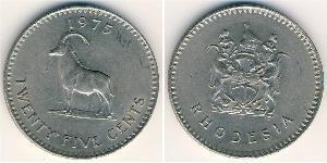 25 Цент Родезия (1965 - 1979) Медь/Никель