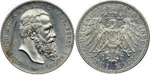 2 Mark States of Germany Silver Heinrich XXII (1859 - 1902)