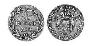 1/2 Kreuzer Gran Ducado de Baden (1806-1918) Cobre