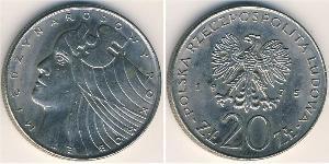 20 Zloty Volksrepublik Polen (1952-1990) Kupfer-Nickel