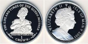 1 Krone Isola di Man Argento Elisabetta II (1926-)