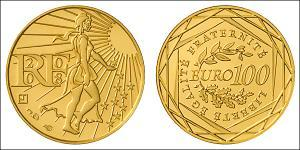 100 Euro French Fifth Republic (1958 - ) Gold
