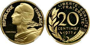20 Centime French Fifth Republic (1958 - ) / France Gold