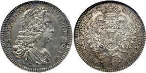 ¼ Taler Austria Argento Carlo VI del Sacro Romano Impero (1685-1740)