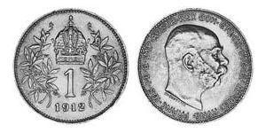 1 Corona Impero austro-ungarico (1867-1918) Argento